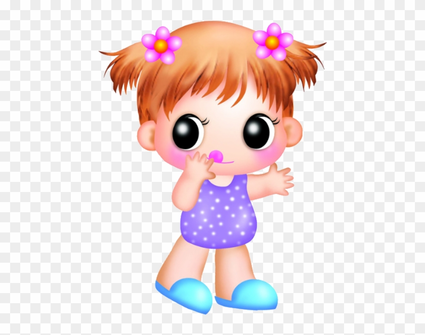 Cute And Funny Baby Girl Clip Art Images On A Transparent - Cute Baby Girl Cartoon #311303