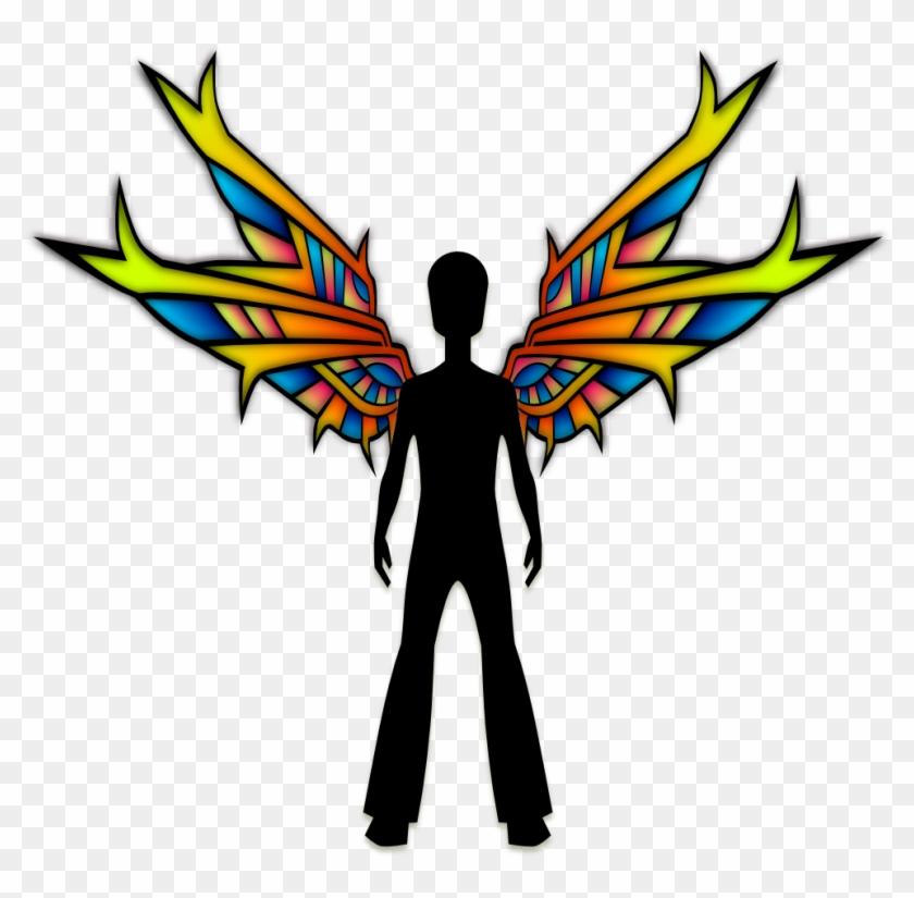 Wings Black Viscious Speed 555px - Schwarze Fee Mit Buntglas-flügeln Karte #311304