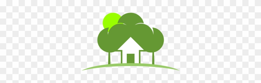Vector Green Tree House - House And Tree Vector #311327