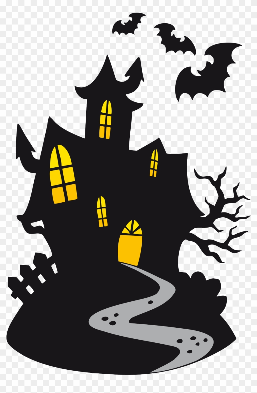 haunted halloween haunted house clipart free transparent png rh clipartmax com Cartoon Haunted House Haunted House Drawings
