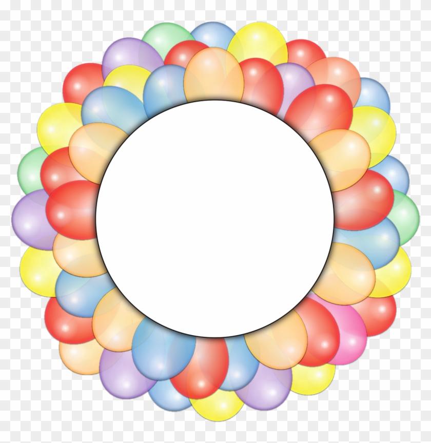 Vacation, Balloons, Circle, Frame, Copy Space - Steigt Geburtstags-party Im Ballon Auf Runder Aufkleber #311452