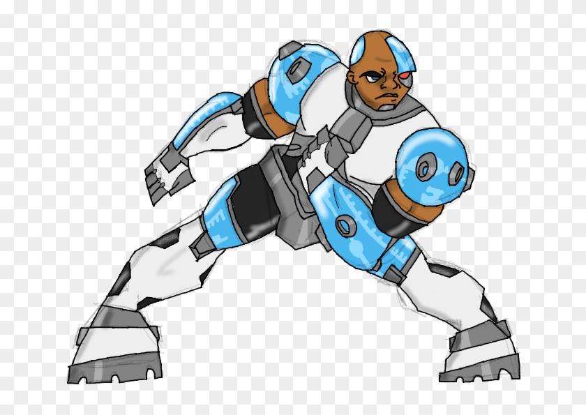 Cyborg By Budtheartguy - Teen Titans Cyborg Drawing - Free ...