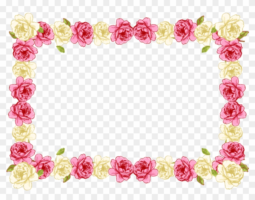 pink rose clipart borders vintage color transparent rose frame png
