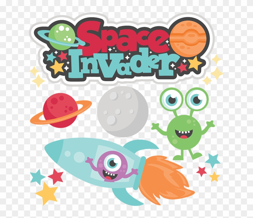 Space Invader Svg Cutting Files For Scrapbooking Alien - Miss Kate Cuttables Space #311873