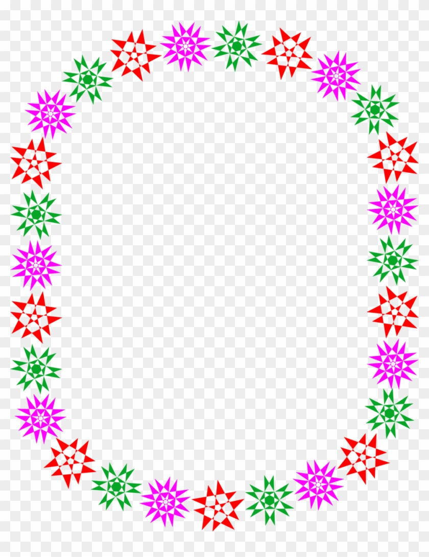 Star Clusters Border Clip Art Pics About Space - Colorful Star Border Png #312149
