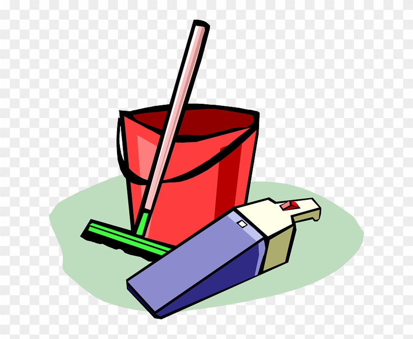 Cleaning, Supplies, Bucket, Dust Buster, Vacuum - Cleaning Supplies Clipart #312185