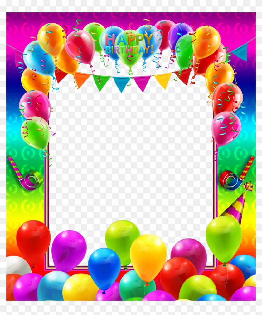 Happy Birthday Colorful Transparent Png Frame Gallery - Colorful ...