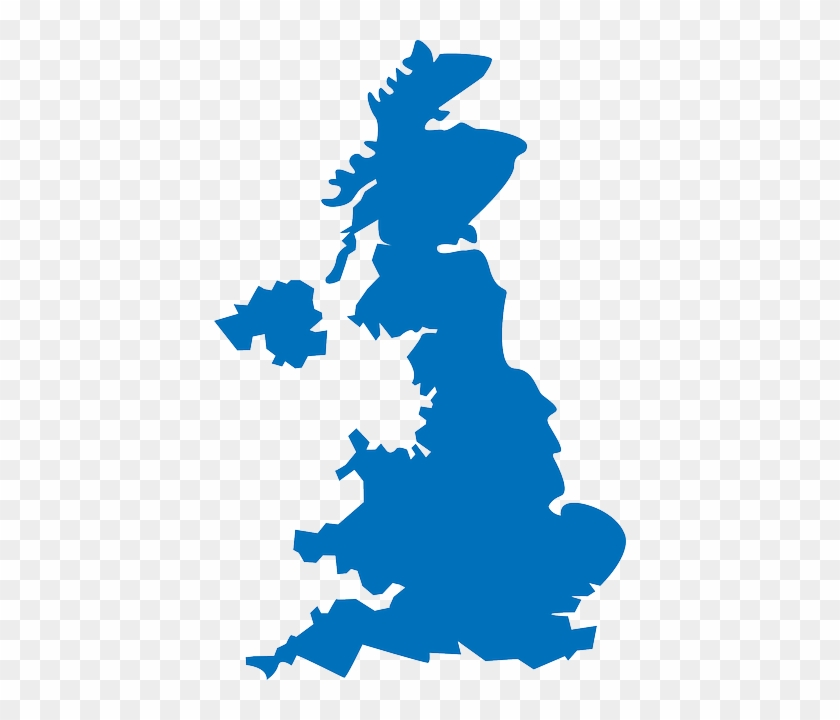 Blue, Outline, Map, Scotland, Silhouette, Island - Wall Sticker Uk Places #312278