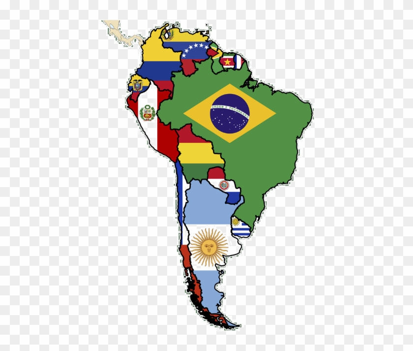 South America Flag Map Ylgri3 Clipart - South America Clipart #312428