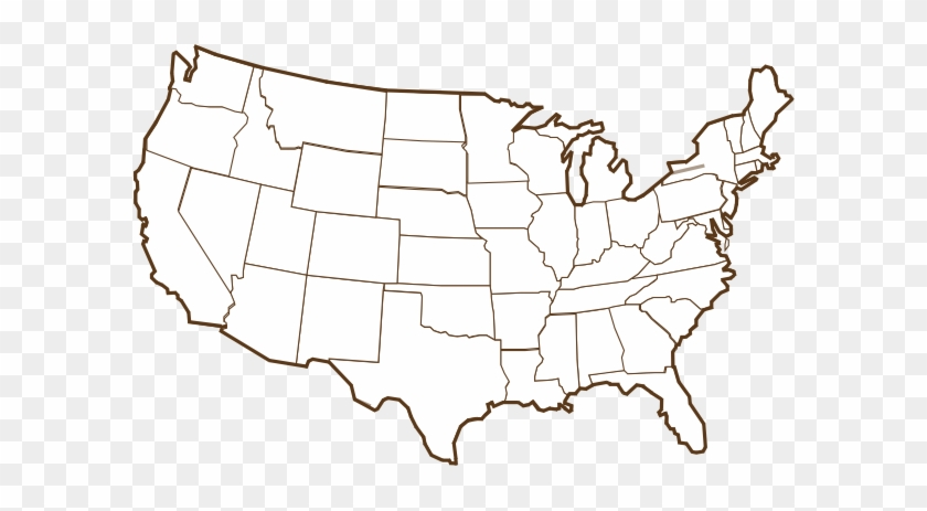 Brown Us Map Clip Art At Clker Patriot Front Vanguard America - Us-front-map