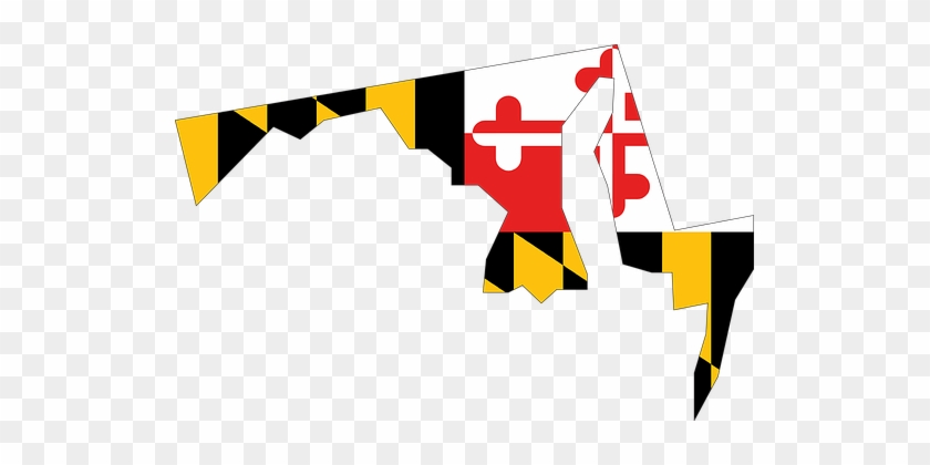 Maryland On Usa Map.Maryland State Usa Flag Map Maryland Flag In State Free
