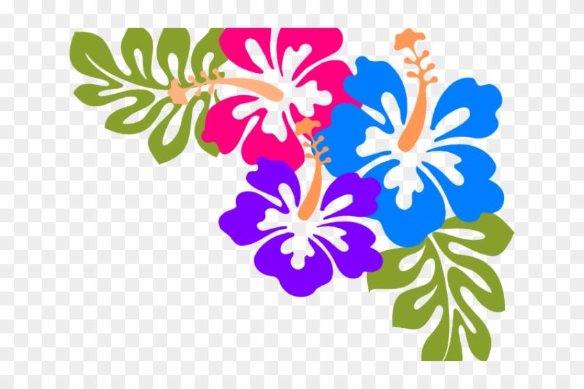 Hawaiian Luau Clipart - Clip Art Hawaiian Flowers #312586