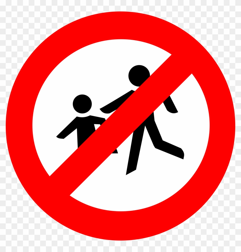 As Feds Tell Colleges To Support Parenting Students - No Pedestrians Road Sign #312672