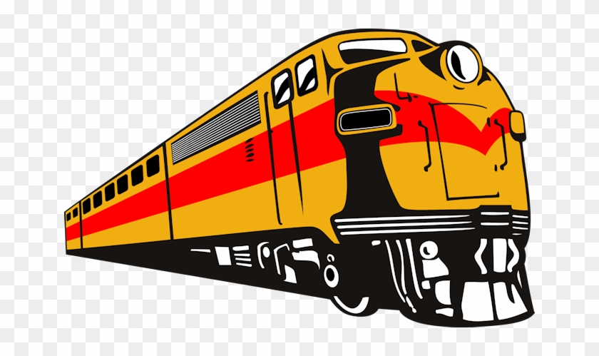 Diesel Train Engine Clipart #312708