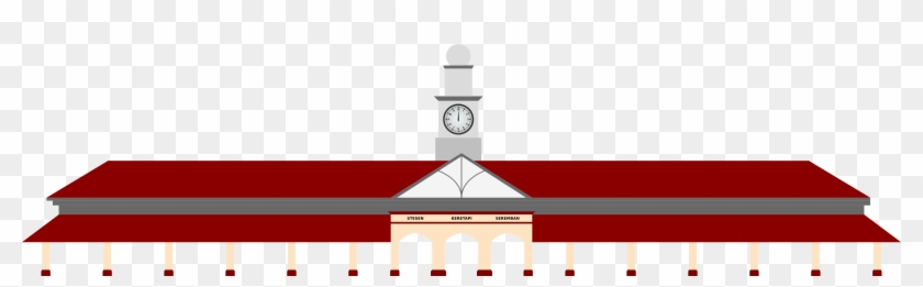 Railway Station - Train Station Vector Png #312777