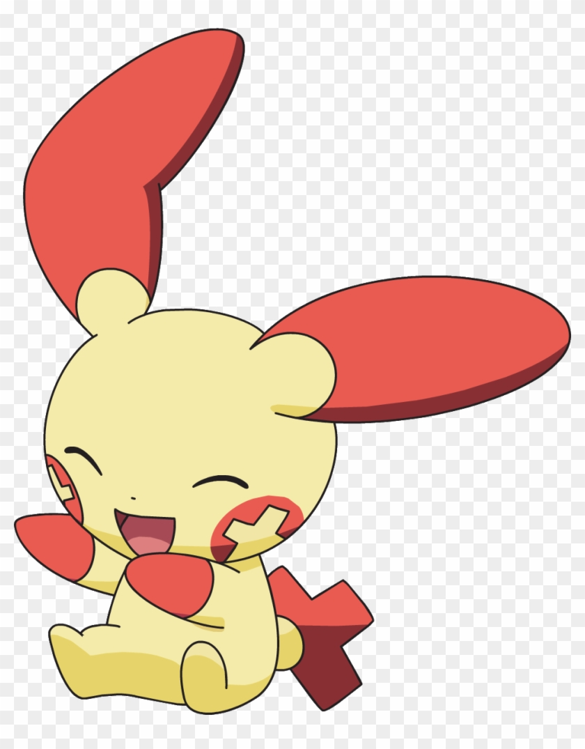 311plusle ag anime yellow pokemon with red ears 313092