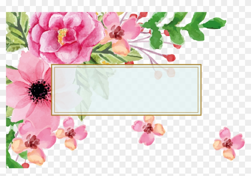 Euclidean Vector Flower Watercolor Painting Visiting - Mother's Day Facebook Frame #313415