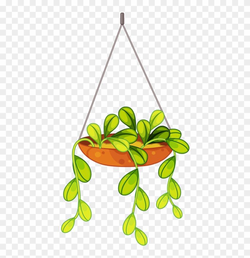 Flores Penduradas, Arte Flor, Folhas Para Colorir, - Hanging Flower Basket Cartoon #313532