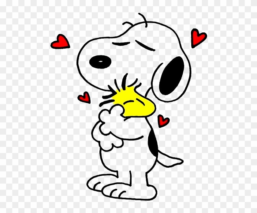 Snoopy And Woodstock Drawing Hugging By Bradsnoopy97 - Snoopy Drawing #313683
