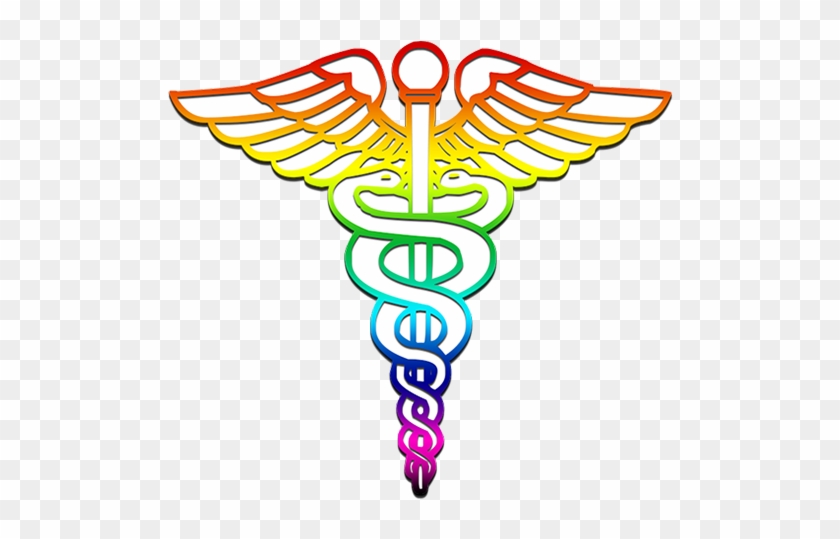 Caduceus Medical Logo Rainbow Clipart Image - Symbol For The Medical Arts #313998