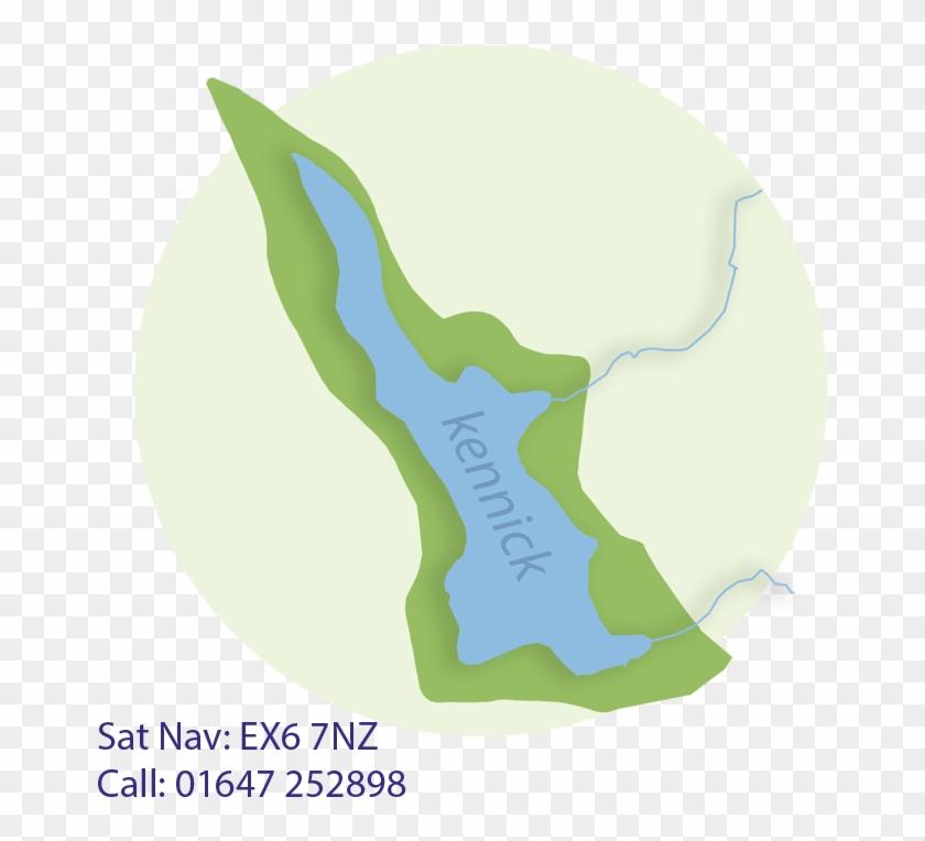 Map Of Siblyback Lake #314189