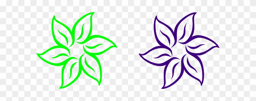 Lime Green And Purple Flower Clip Art Easy To Draw Flowers