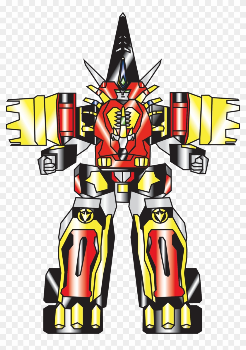 Nobird27 7 0 Mezodon-megazord By Nobird27 - Power Ranger Dino Thunder Cephalazord #314552