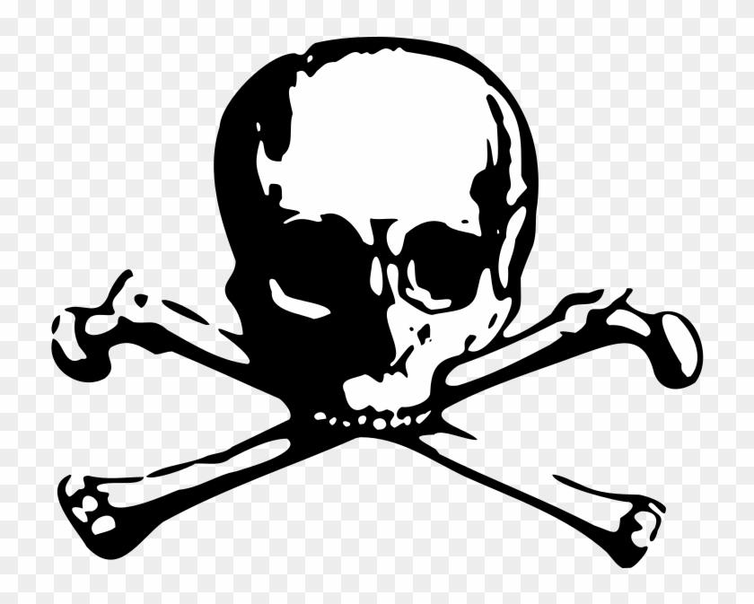 Crossbones Vector - Skull And Bones Sticker #314621