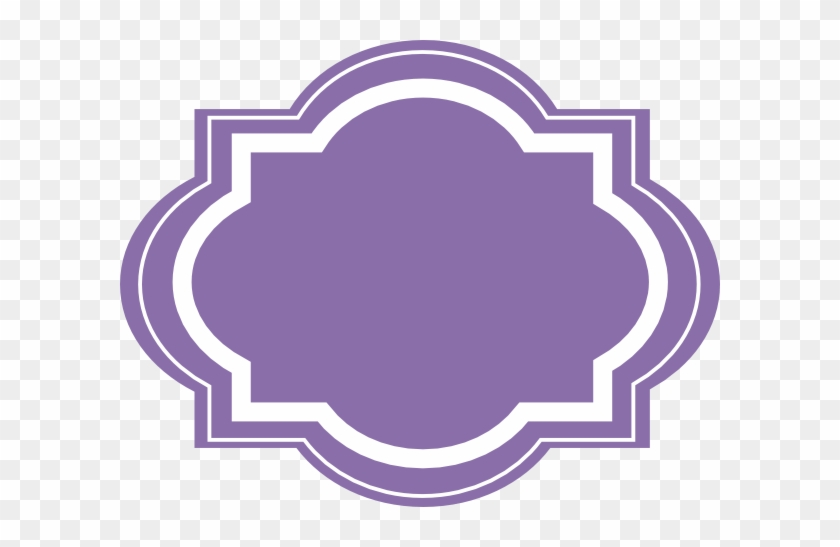 Tag Shape Clipart - Purple Shape Clipart #314622