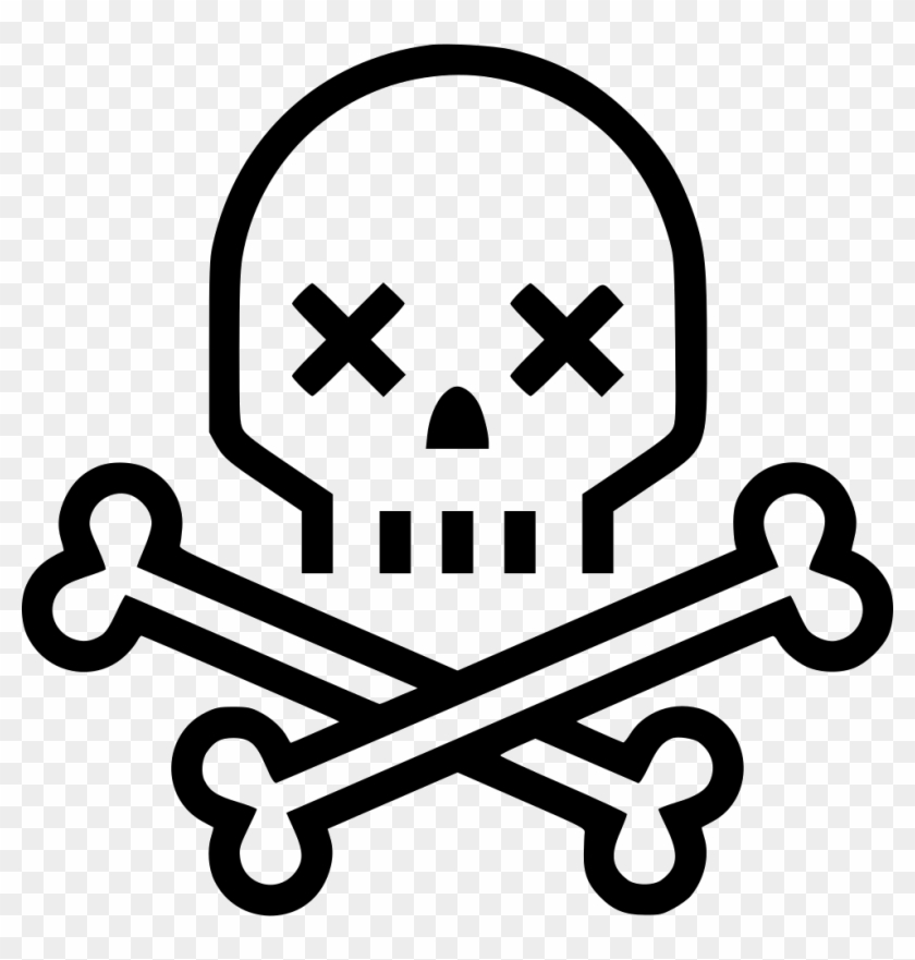 Skull Crossbones Skeleton Death Comments - Skull And Bones Drawing Easy #314625