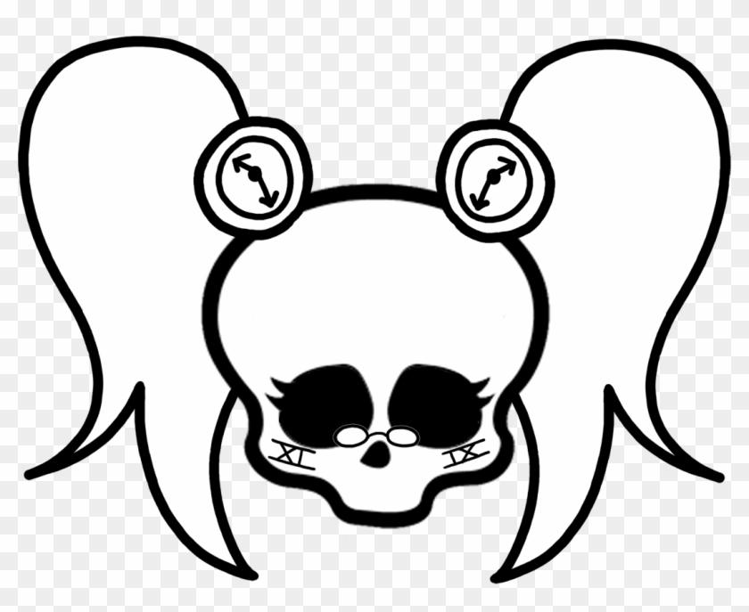 Monster High Clipart Black And White - Monster High Skull Drawings #314644