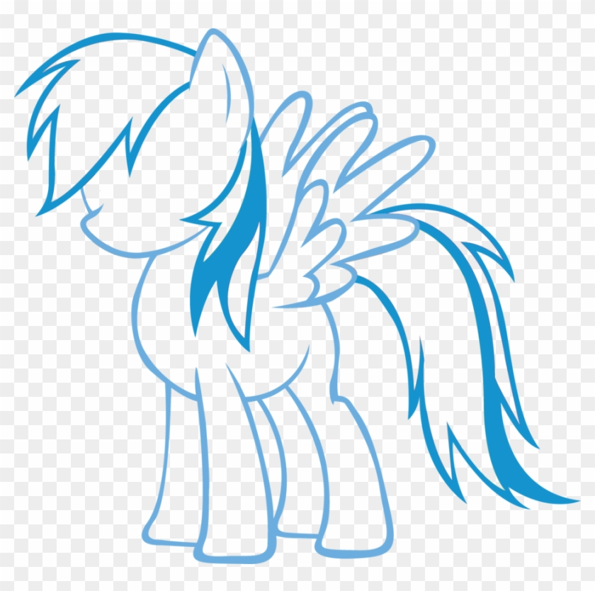 Anime Girl Body Outline Free Download Clip Art Free - My Little Pony Rainbow Dash #314781