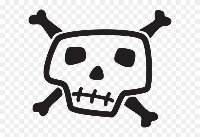 Clip Art - Skull And Bones Drawing #314899