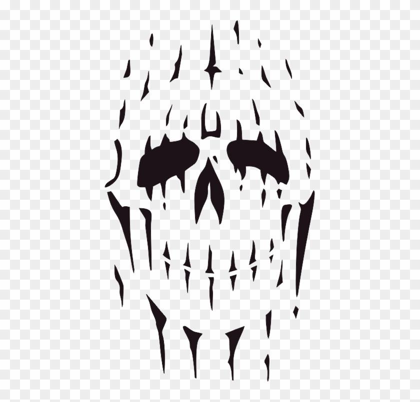 Stencil Sugar Skull Tattoo Outline