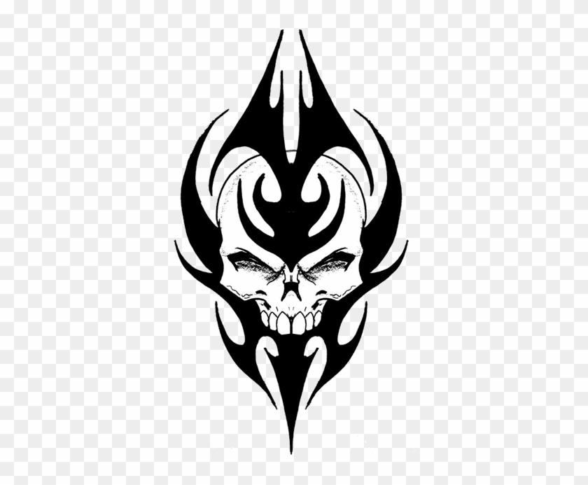 Tribal Skull - Tribal Skull Tattoo Designs #315210