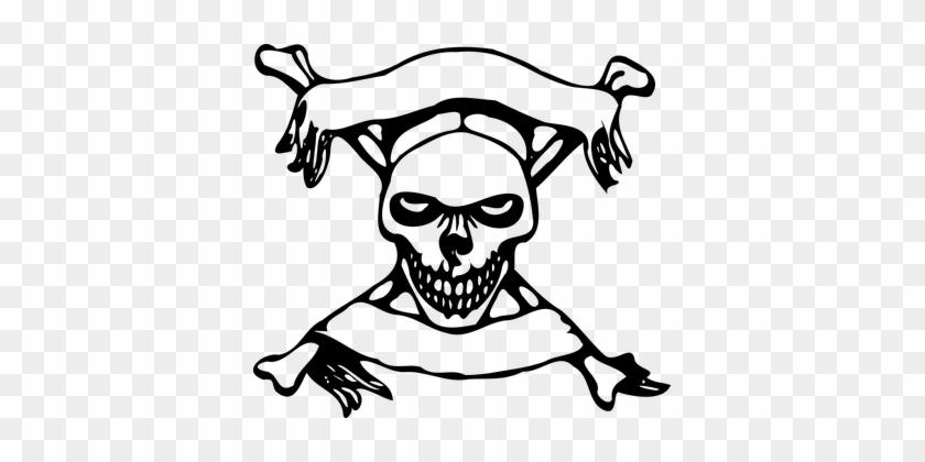 Skull Cross Bones Banners Symbol Danger Pi Danger Skull And