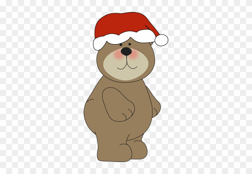 Christmas Bear In Santa Hat - Bear In Christmas Hat #315638