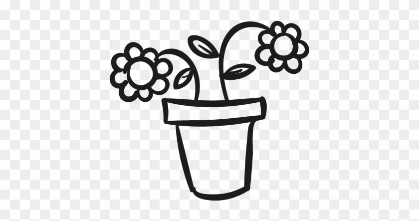 Flower Pot Free Vectors Logos Icons And Photos S - Flower In A Pot Outline #315643