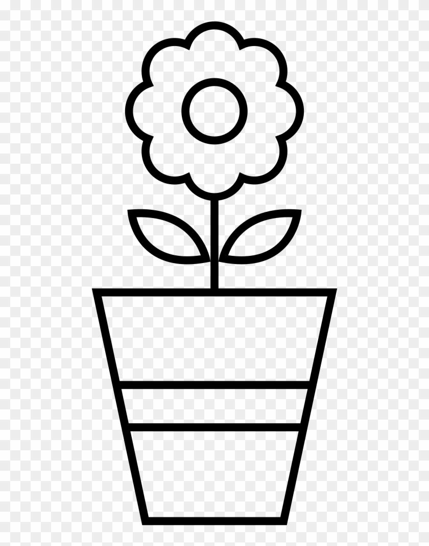 Flower Pot Coloring Page Vaso De Flor Para Colorir Free