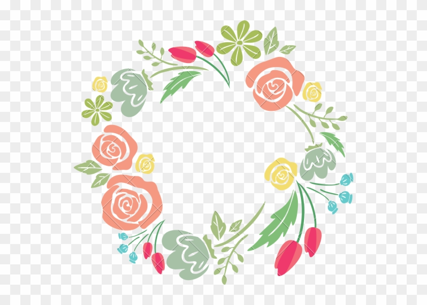 Flower Photography Graphic Design - Flower Border Design Circle #315859