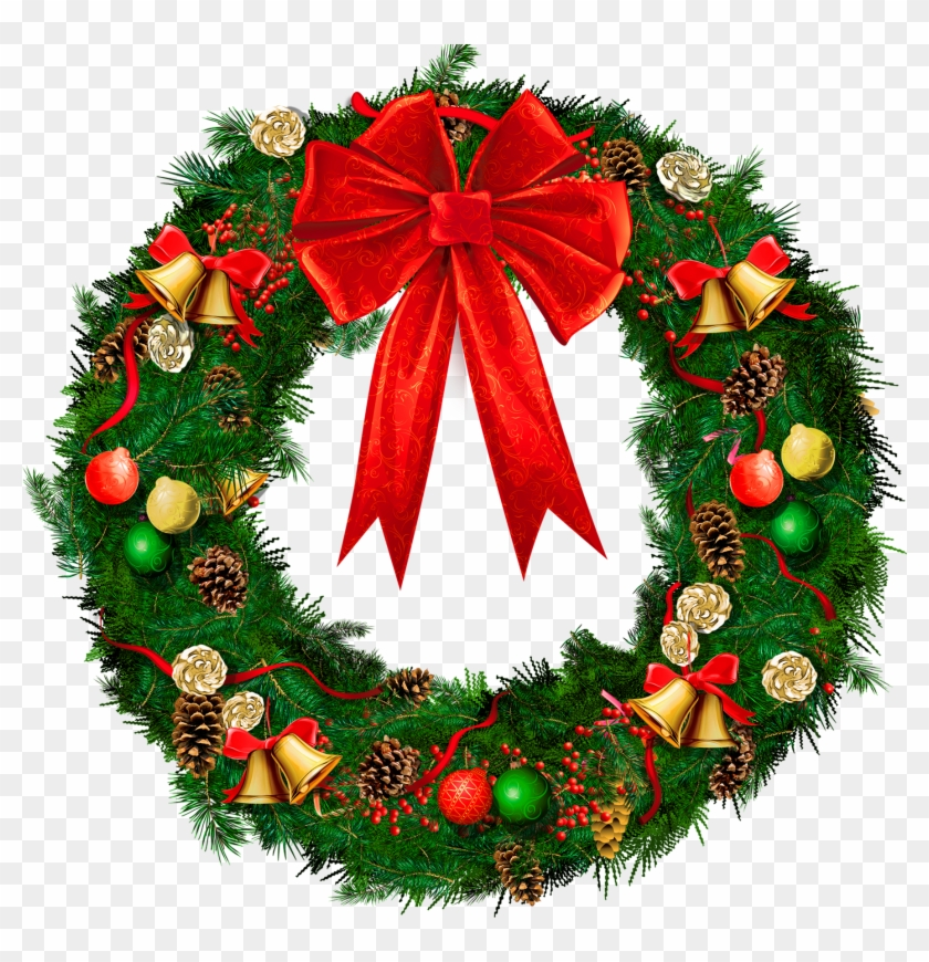Christmas Wreath Border Clipart Christmas Wreath No Background Free Transparent Png Clipart Images Download