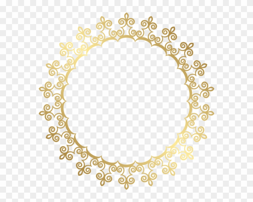 Round Gold Border Frame Transparent - Gold Circle Frame Png #315944