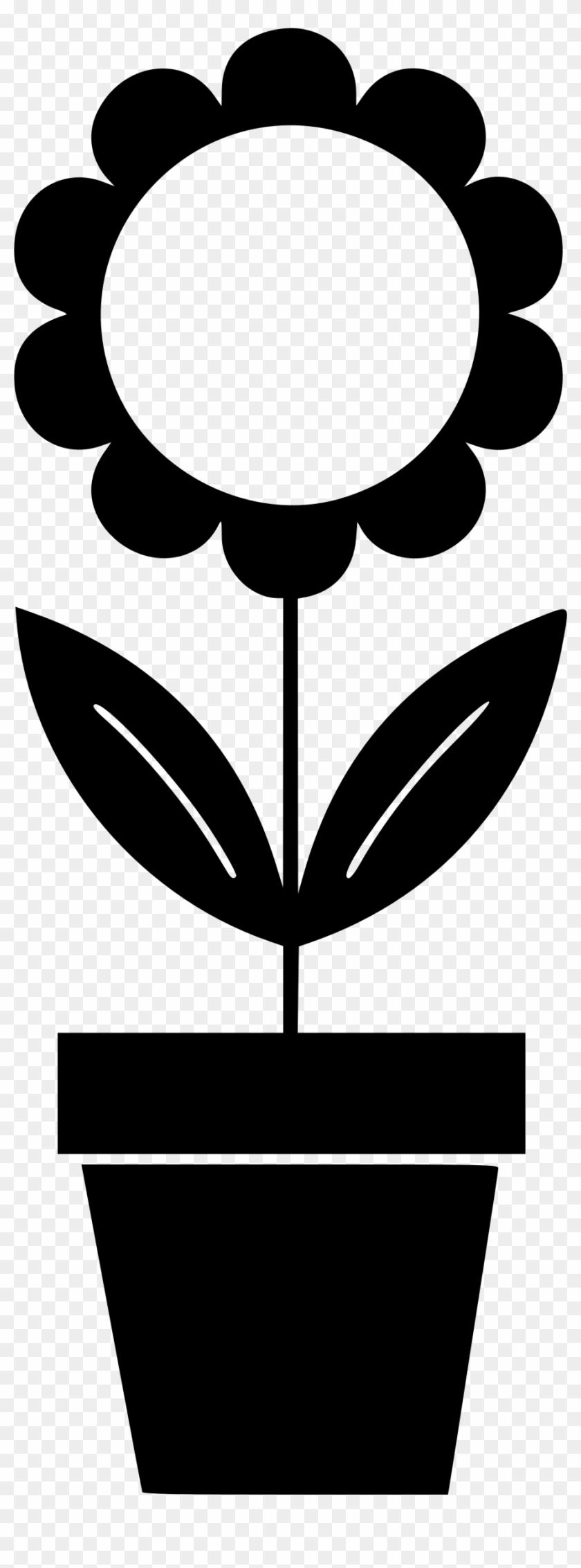 Flowerpot Houseplant Clip Art - Potted Plant Clip Art #316125