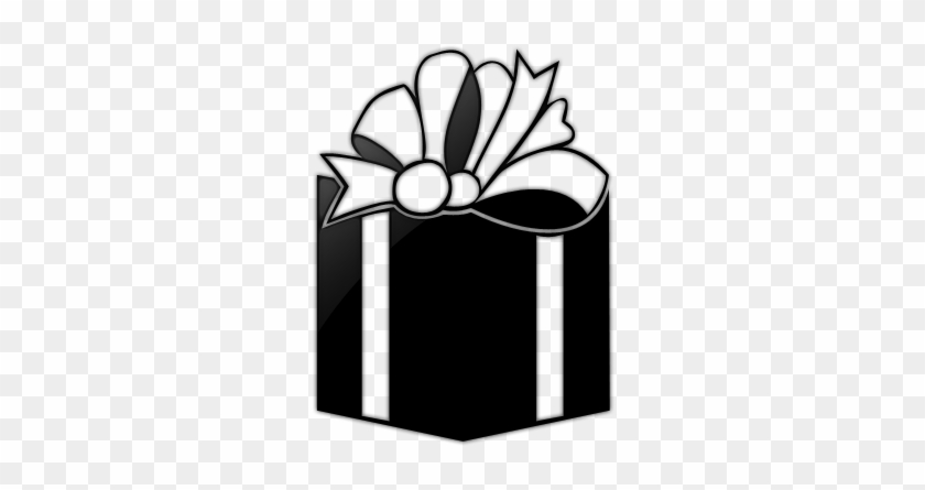 White Bow Gift Box Icon Gift Box Black And White Free Transparent Png Clipart Images Download