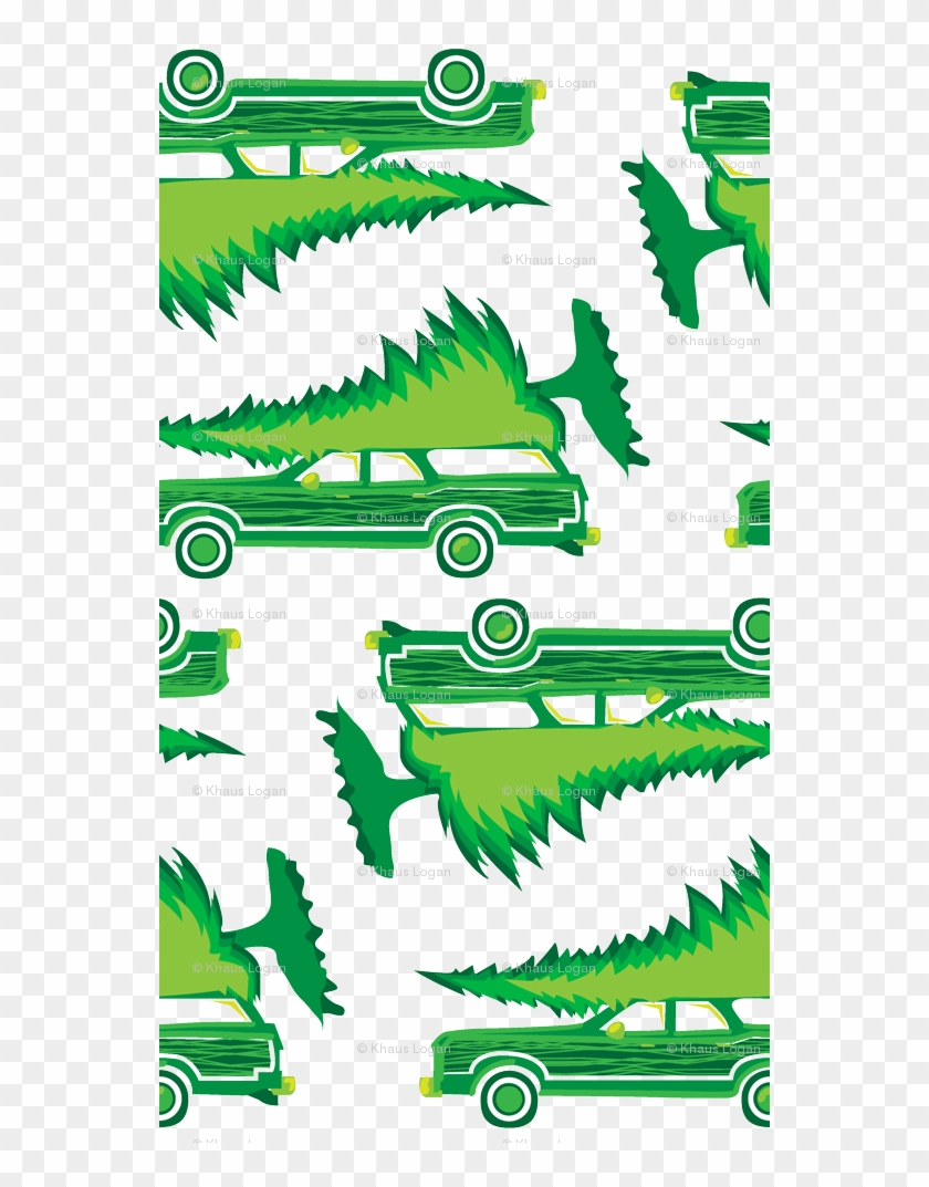Griswold Family Christmas Station Wagon With Tree Green - Nationallampoonsvacationmovie Shower Curtain #316445