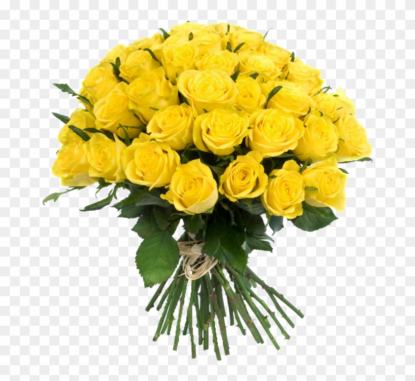Yellow Flowers Bouquet Transparent Png - Yellow Flowers Bouquet #316460