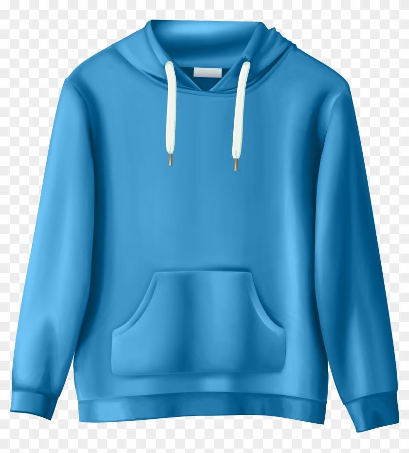 Blue Sweatshirt Png Clip Art - Clothes Transparent Background Clipart #316618