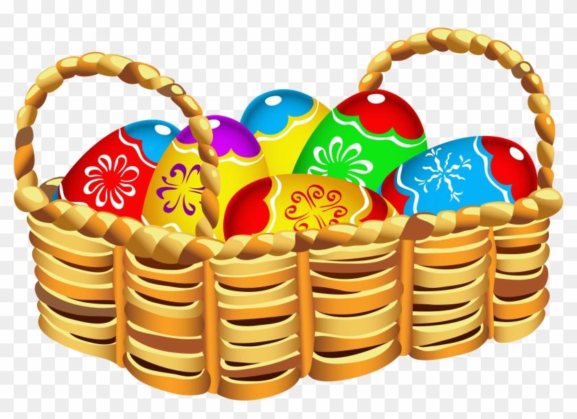 Images For > Clipart Easter Basket - Easter Egg Basket Clipart #316682