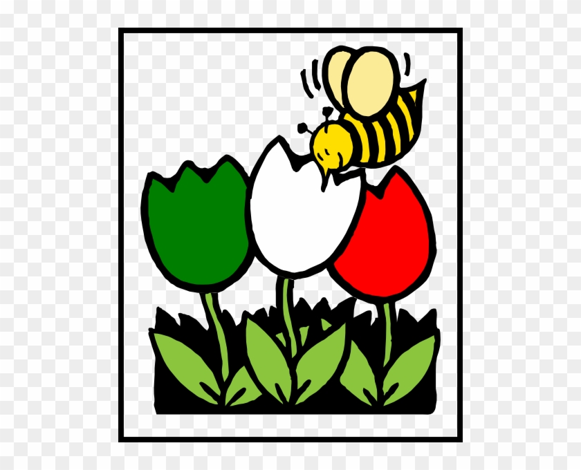 Flower Bee Cliparts - Honey Bee And Flowers Clip Art #316748