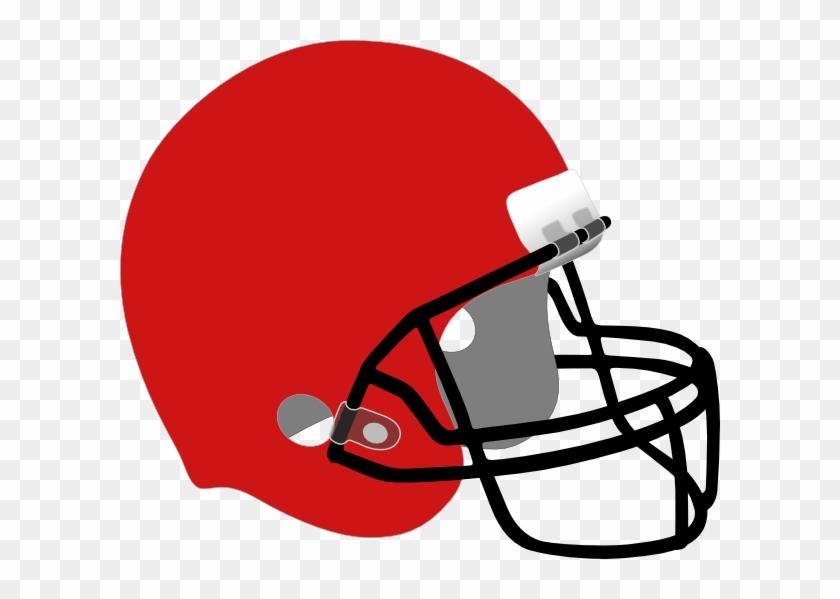 Red Football Helmet Clipart #316971